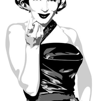 Drawing Marilyn Monroe with Adobe Illustrator vector