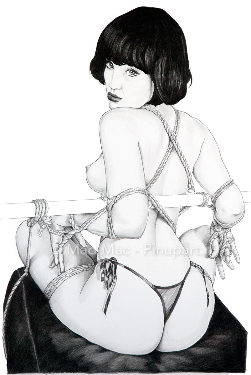 A sexy bondage girl