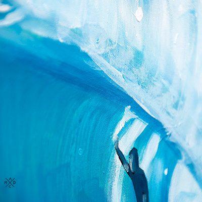 """Surf Art Painting: """"Big Wave"""" - part"""
