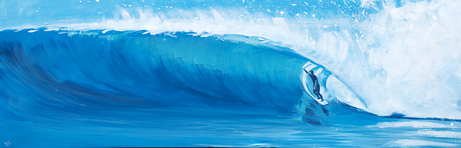 "Surf Art Painting: ""Big Wave"" - acrylic on canvas"