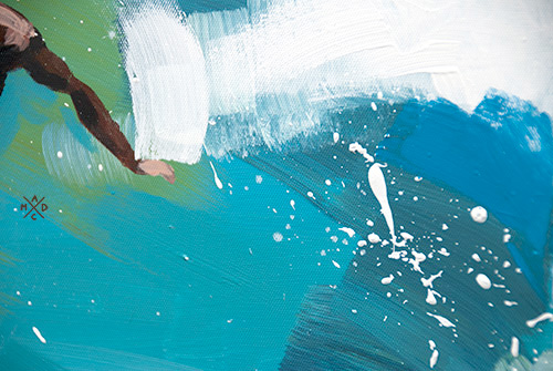 "Surf Art Painting: ""Cut Back"" - part"