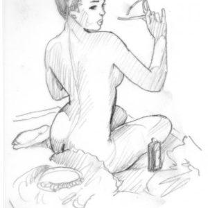 Elvgren pin up tribute sketches