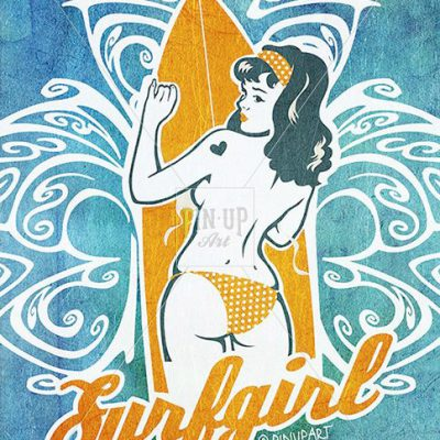Surfgirl drawing