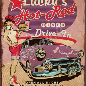 50s Drive In sign ads