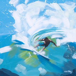 "Surf Art Painting: ""Cut Back"" - acrylic on canvas"