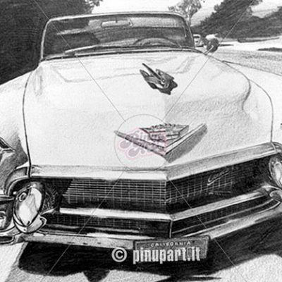 Cadillac - pencil on paper