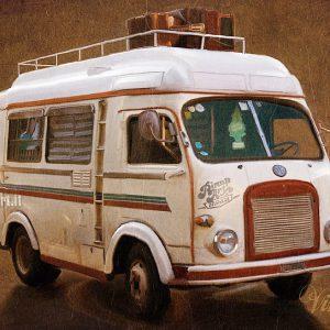 Vintage Fiat - Corel Painter X digital art