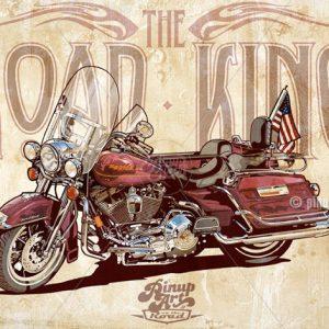 Drawing of Harley Davidson Road King - Macromedia Freehand digital art