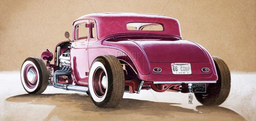 Hot Rod: drawing on different surface