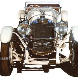 Mercedes 1930 - airbrush on cardboard