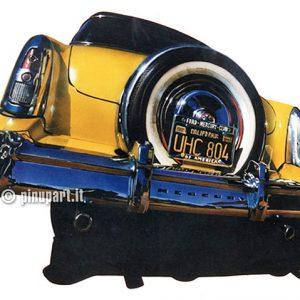 Mercury Ford - Airbrush on cardboard