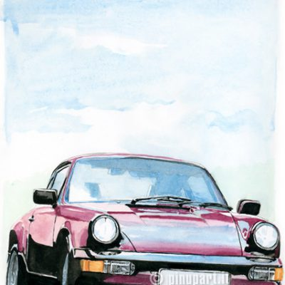 Porche - watercolour on paper