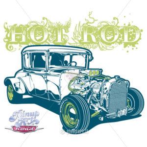 T-Bucket Ford - Adobe Illustrator digital art