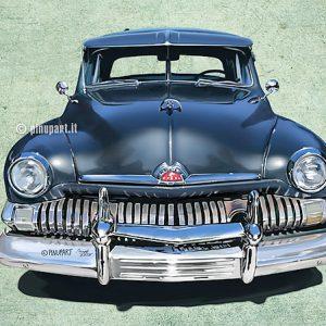 Illustration of Ford Mercury old american car - Adobe Photoshop digital art