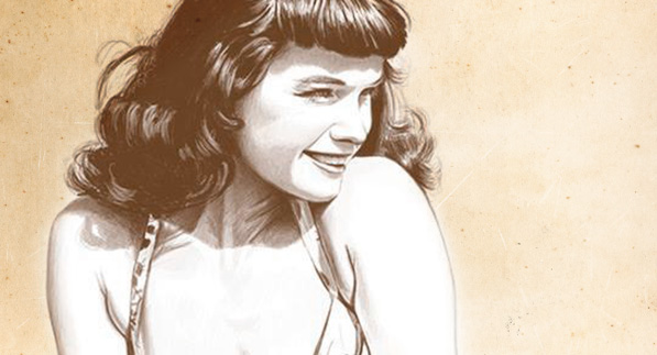 Drawing Bettie Page