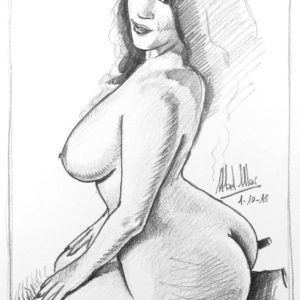 Pencil drawing study: curvy girl