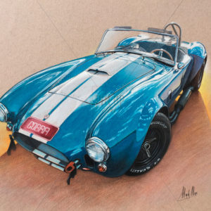 Drawing of 1966 Shelby Cobra Roadster