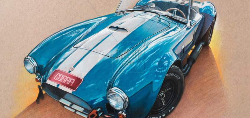 Shelby Cobra roadster: draw a myth!