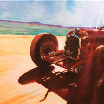 Oil on canvas painting of Alfa Romeo Type 3 (P3) of 1932