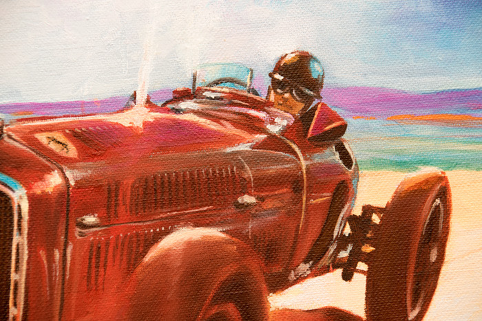 Alfa Romeo P3 and Nuvolari: painting history!