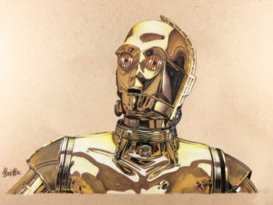 Illustration of C-3PO Star Wars droid