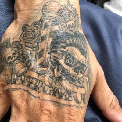 Execution of my tattoo design